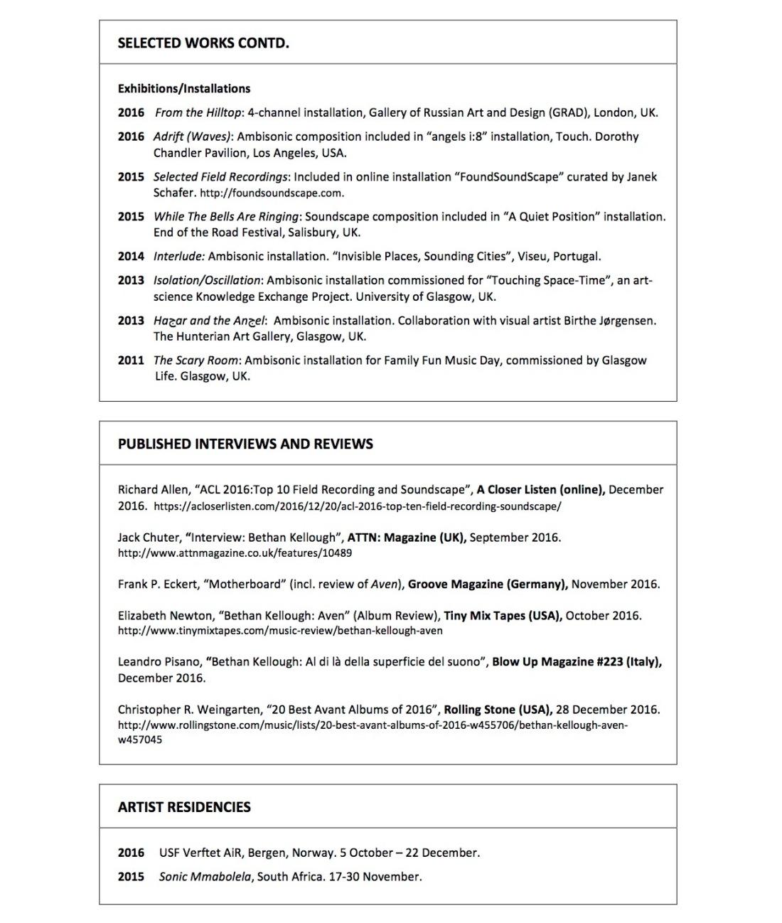 Curriculum Vitae_Dr Bethan Kellough_Composer_p2